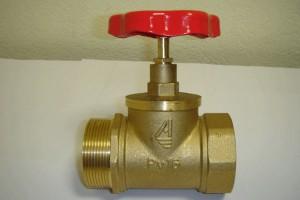 Клапан пожарный латунный прямоточный КПЛП 50-1 муфта - цапка