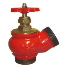 Клапаны пожарные чугунные под углом 125° КПЧ 50-2 чугунный муфта - цапка
